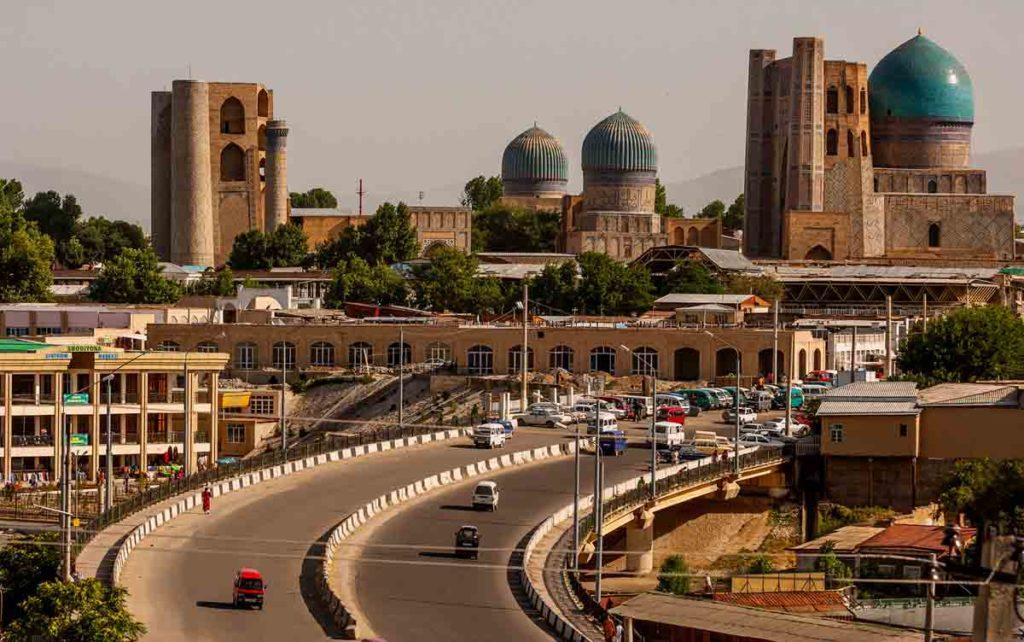 современный город Самарканд