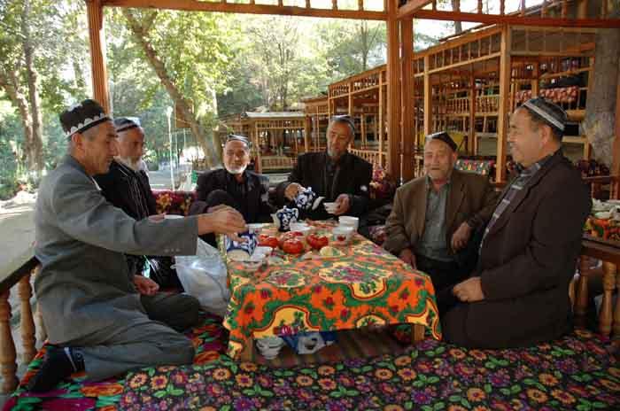 чаепитие в Узбекистане