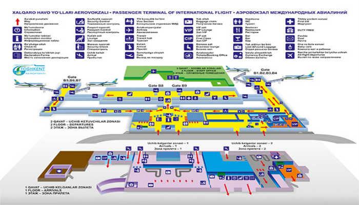 Схема аэропорта Ташкент Южный