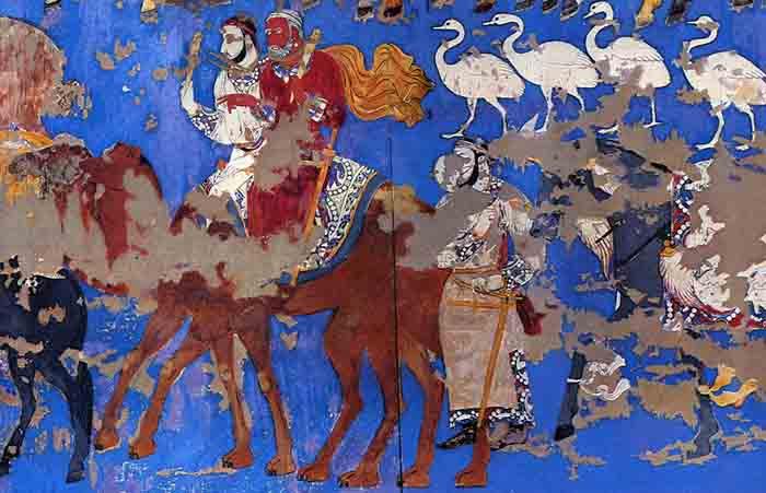 фрески в Афросиабе