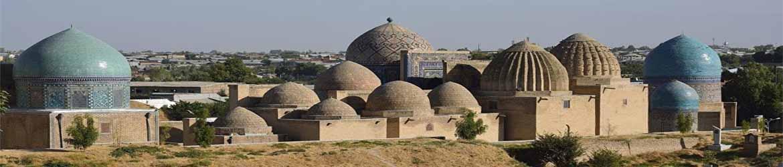 Мавзолеи Кусама ибн Абасса, Туман ака, Казы Заде Руми в комплексе Шахи Зинда города Самарканда