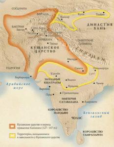 карта Кушанского царства