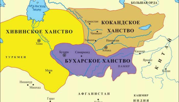 Карта Кокандского ханства