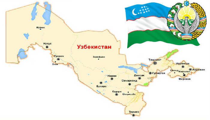 г.Карши на карте Узбекистана