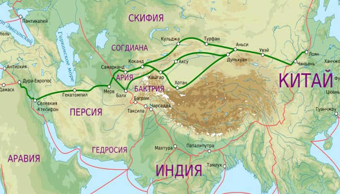 Карта Бактрии