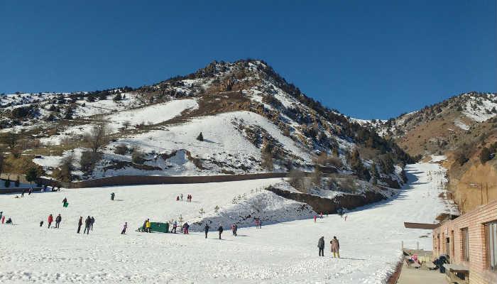 Янгиабад зимой