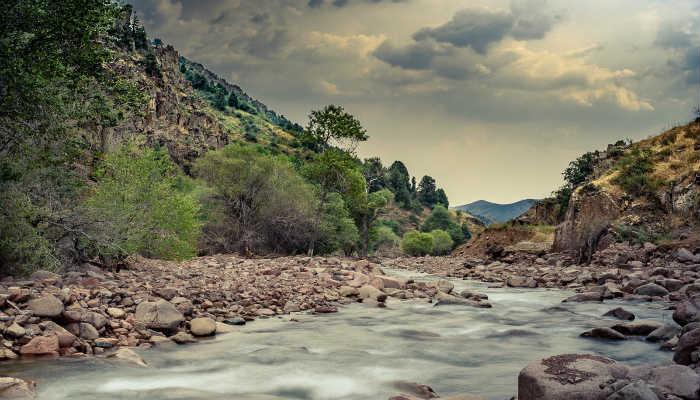 реки Янгиабада